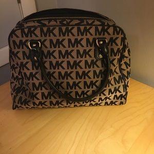 Michael Kors tan and black oversized handbag